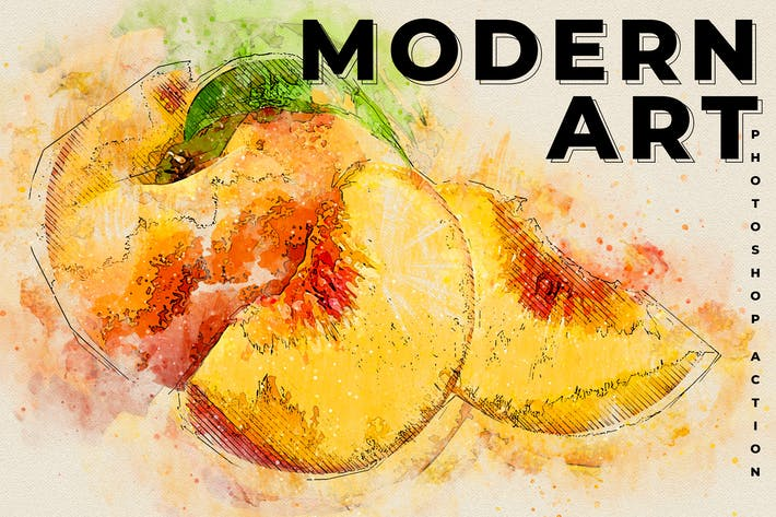 Thumbnail for Modern Art Photoshop Action