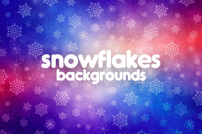 Thumbnail for Snowflakes Backgrounds