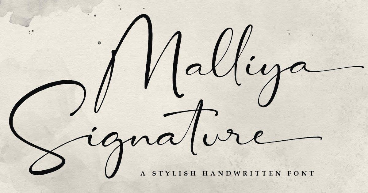 Download Malliya Signature Font by kotakkuningstudio
