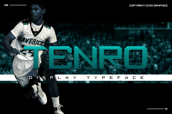 Thumbnail for Tenro Display Font