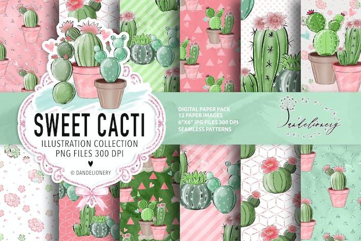 Thumbnail for Paquet de papier numérique Sweet Cactus