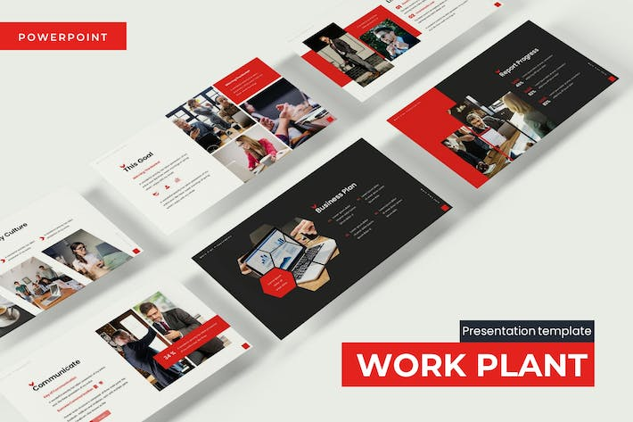 Thumbnail for Work Plant - Powerpoint Template
