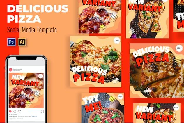 Pizza Sosis Social Media Template