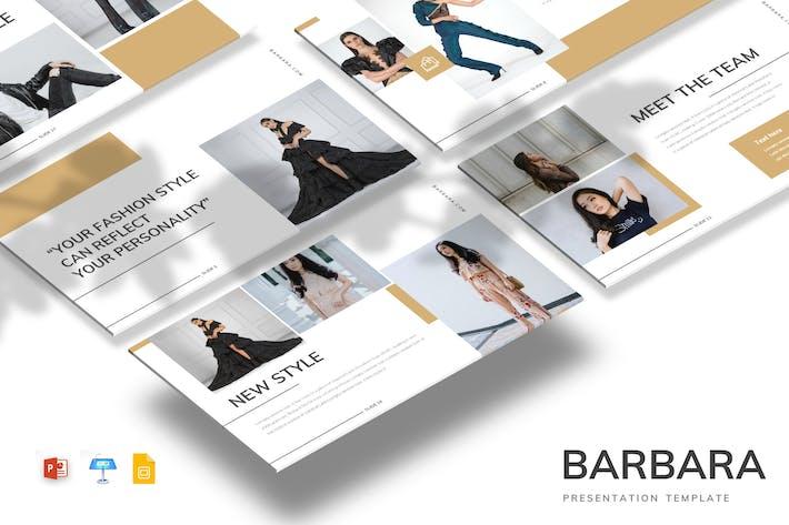 Thumbnail for Barbara - Powerpoint/Google Slides/Keynote Templat