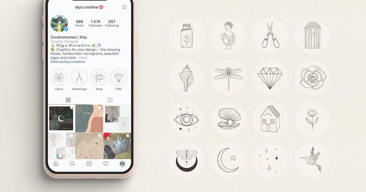 Download 16 Instagram Highlight Story Templates by helga_helga