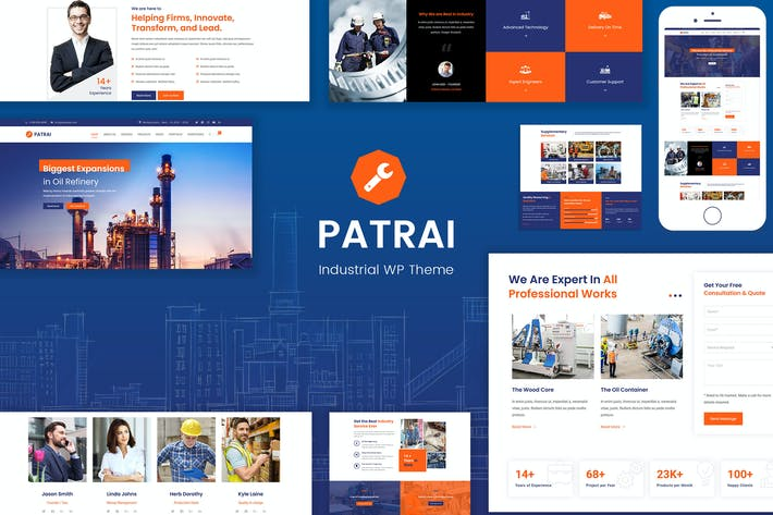 Thumbnail for Patrai Industry - Industrial WordPress