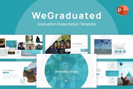 Шаблон PowerPoint диплома WeГрадуированный