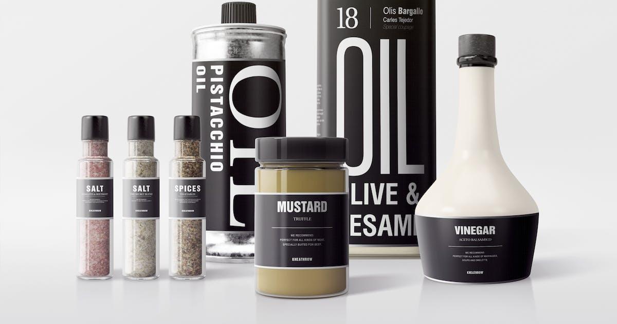 Download Seasonings Packaging Mock-Ups Vol.1 by Kheathrow