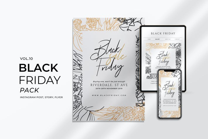 Thumbnail for Black Friday Promotion Flyer and Instagram Vol. 10