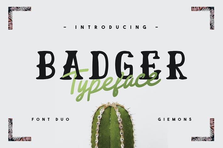 Thumbnail for Badger Typeface