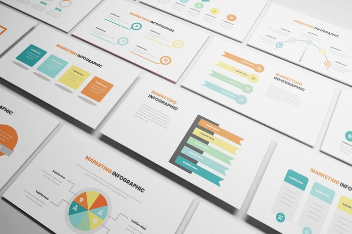 Thumbnail for Marketing Infographic Powerpoint Template