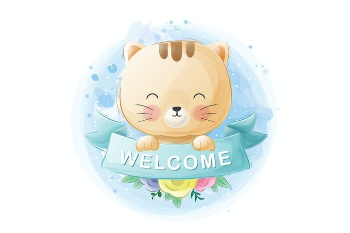 Thumbnail for cute cat vector illustrations