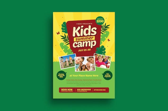 Thumbnail for dépliant de camp d'été pour enfants