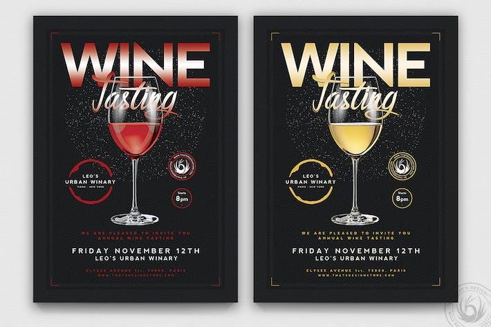 Thumbnail for Wine Tasting Flyer Template V2