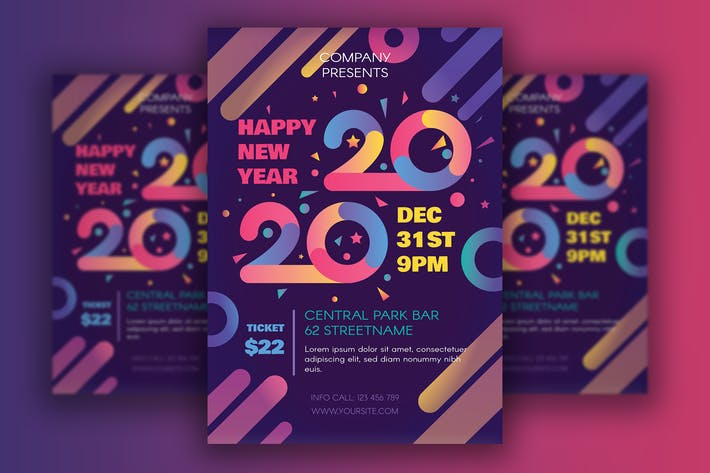 Thumbnail for Happy 2020 New Year Poster