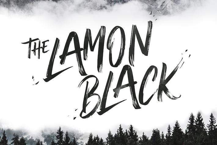 Thumbnail for The Lamon Black - Brush Font