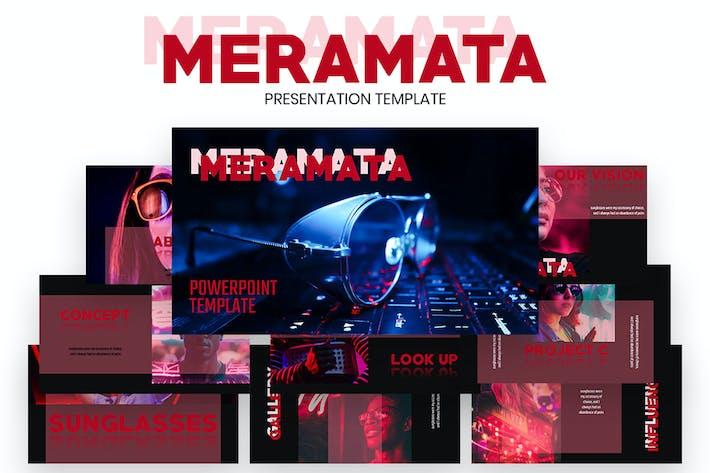 MERAMATA — Шаблон креативной Keynote