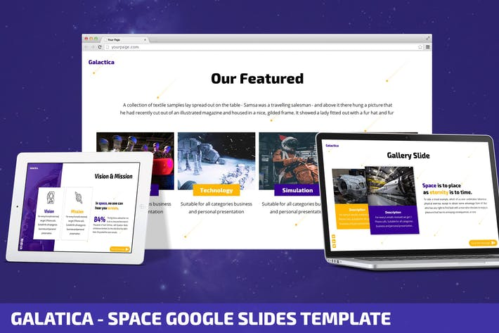 Thumbnail for Galatica - Space Google Slides Template