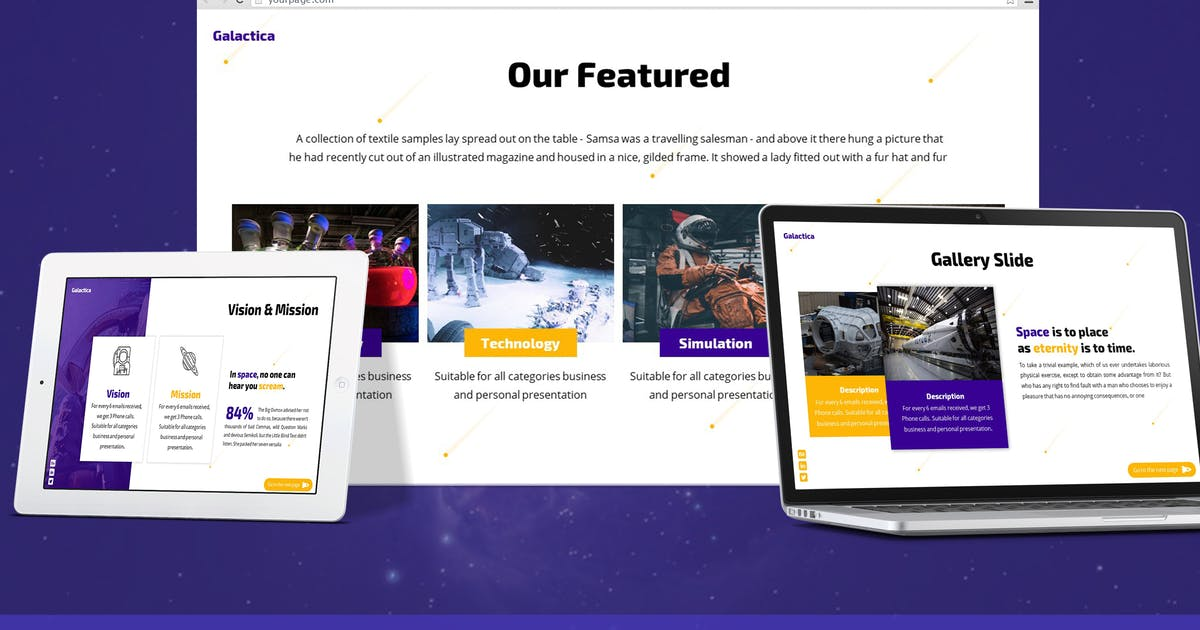 Download Galatica - Space Google Slides Template by SlideFactory