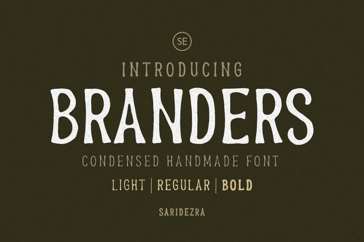 Thumbnail for Branders - Condensed Handmade Font