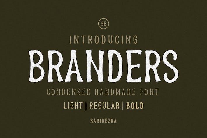 Thumbnail for Branders - Kondensierte handgefertigte Schriftart