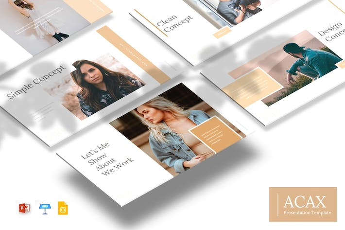 Thumbnail for Acax - Powerpoint/GoogleSlides/Keynote Template