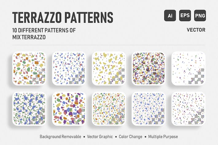 Cover Image For Seamless Italian Terrazzo - Color Mix Pack