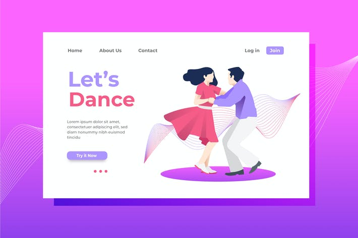Thumbnail for Let's Dance Landing Page Illustration