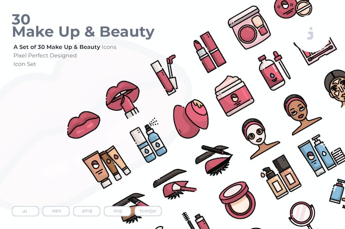 Thumbnail for 30 Make Up & Beauty Icons