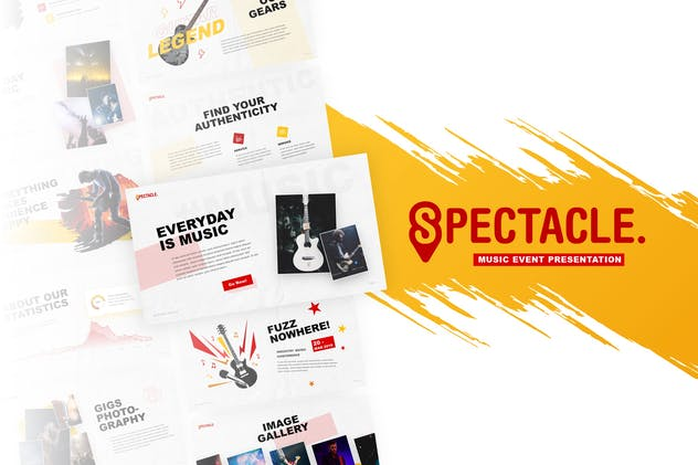 Spectacle - Music Event PowerPoint Template - product preview 0