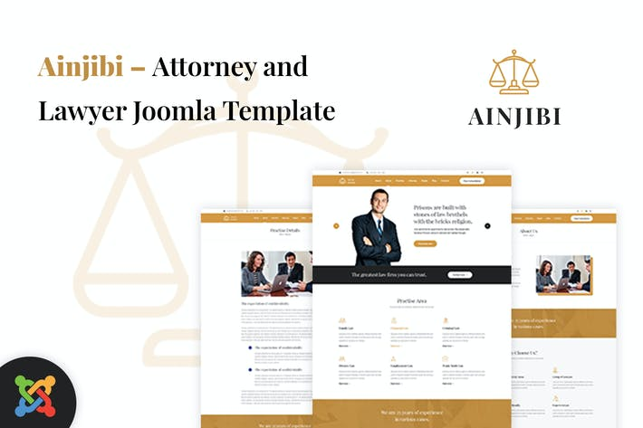 Thumbnail for Ainjibi — Адвокат и юрист Joomla Шаблон