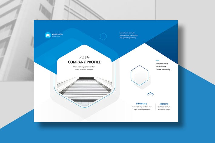 Thumbnail for Company Profile Landscape A4