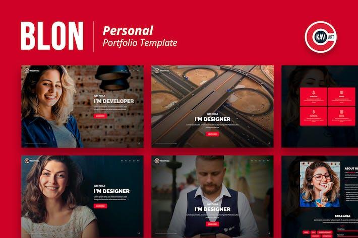 Thumbnail for Blon - Personal Portfolio Template