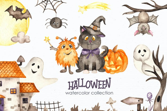 Thumbnail for Watercolor Halloween
