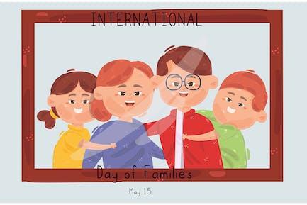 International Day of Families Illustration