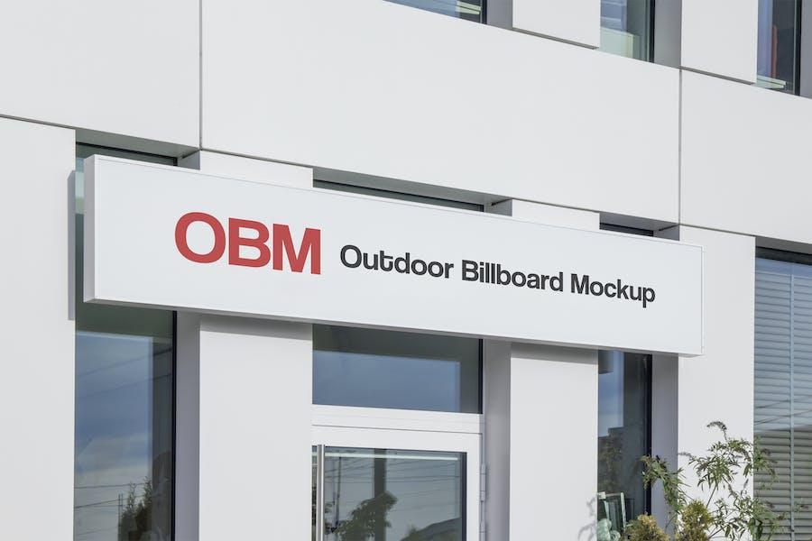 Outdoor Advertising Billboard Mockup #1