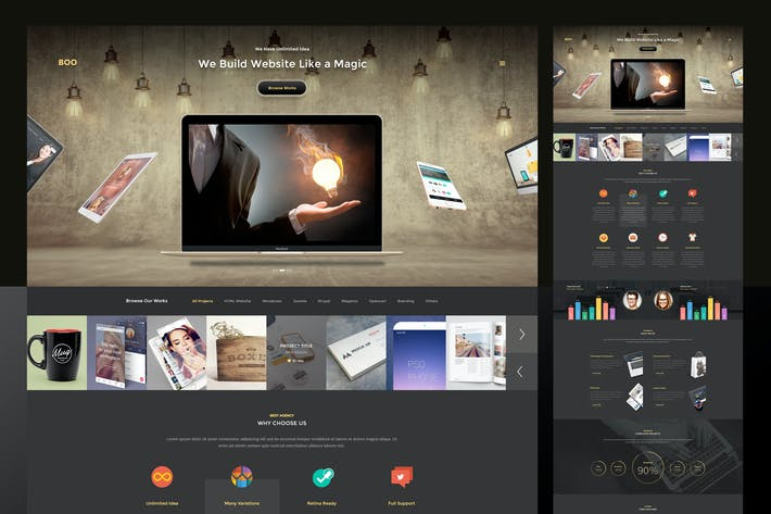 Thumbnail for Dark Creative PSD Template