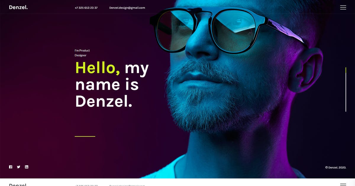 Download Denzel. - Onepage Personal HTML Template by paul_tf