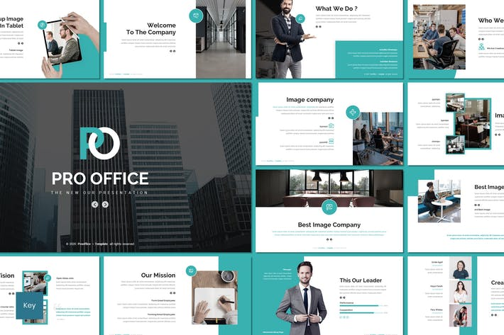Thumbnail for Pro Office - Business Keynote Template