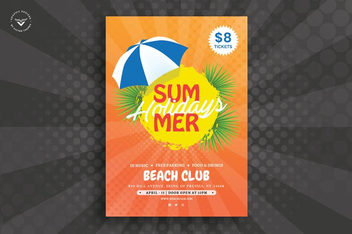 Cover Image For Summer Flyer Template