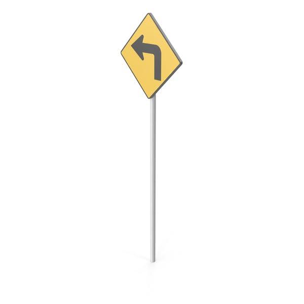 Thumbnail for Left Turn Road Sign