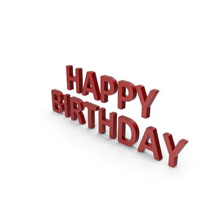 Herzlichen Glückwunsch zum Geburtstag Symbol