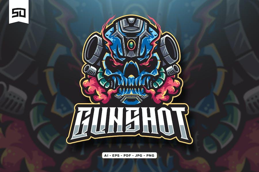 Weapon Robot Logo Mascot Design