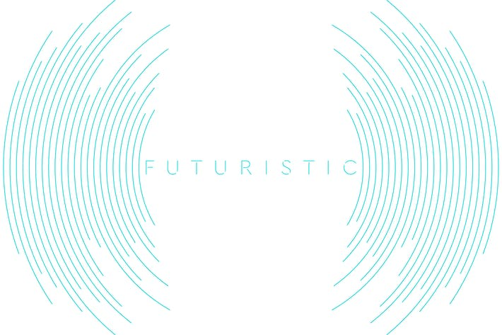 Thumbnail for Blue circular abstract futuristic lines