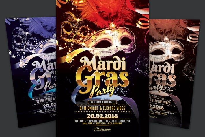 Thumbnail for Mardi Gras Party Flyer