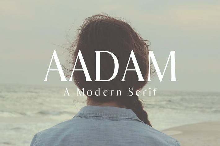 Cover Image For Aadam A Moderno Fuentes serif Family