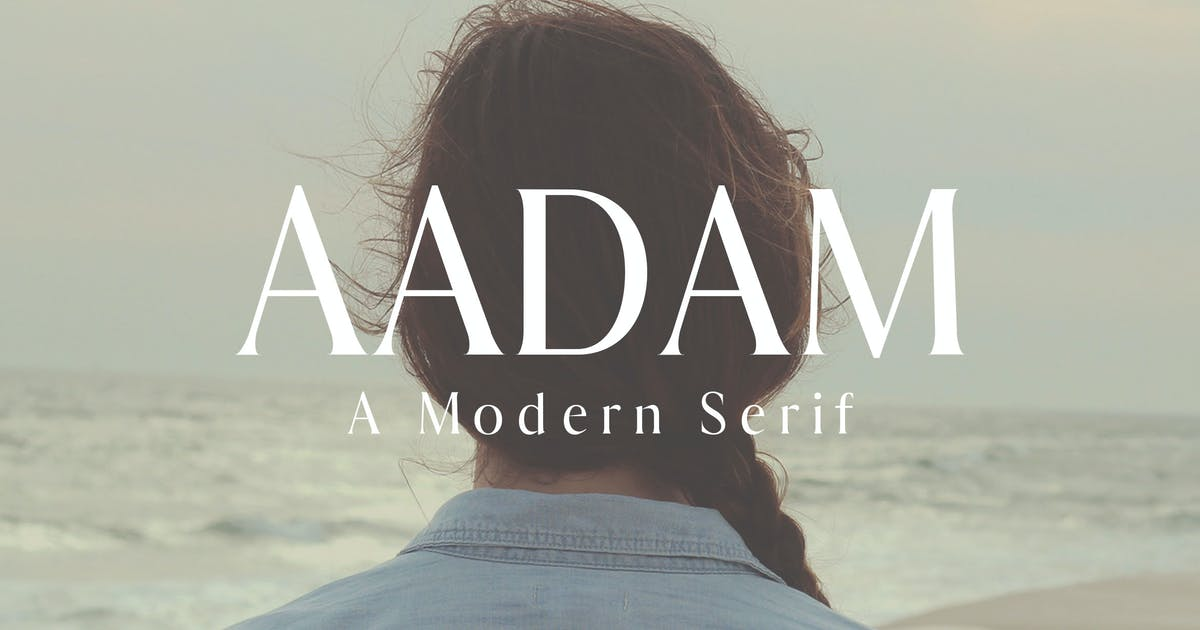 Aadam A Modern Serif Fonts Family by creativetacos