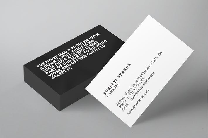 Thumbnail for Horizontal Business Card