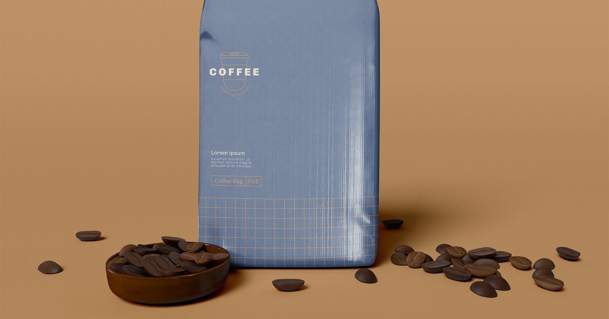 Download Paper Coffee Bag Mockup by megostudio
