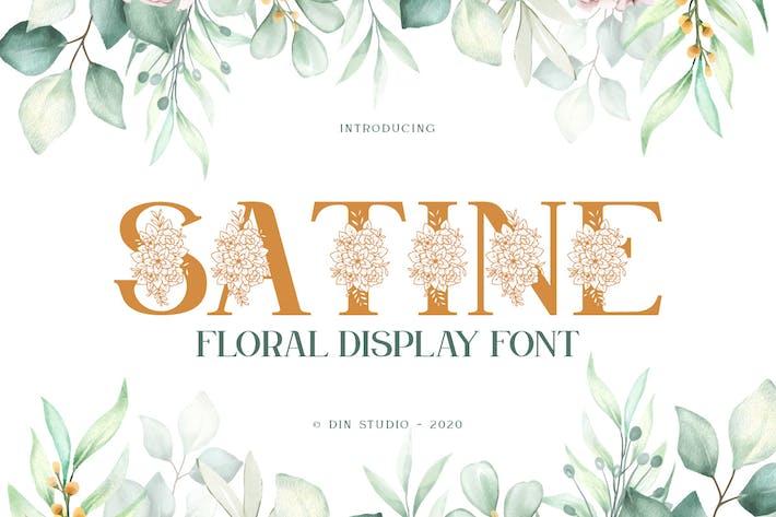 Satine-Floral Display Font